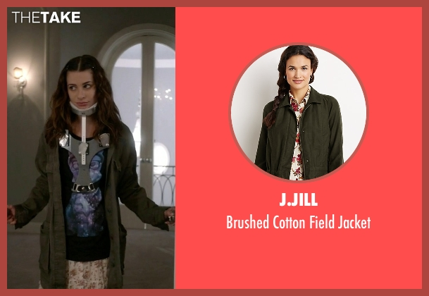 J.Jill green jacket from Scream Queens seen with Hester (Lea Michele)