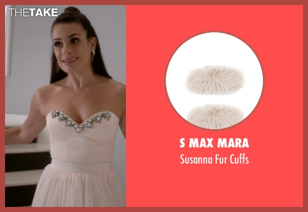S Max Mara white cuffs from Scream Queens seen with Hester (Lea Michele)