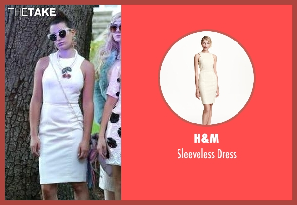 H&M white dress from Scream Queens seen with Hester Ulrich (Lea Michele)