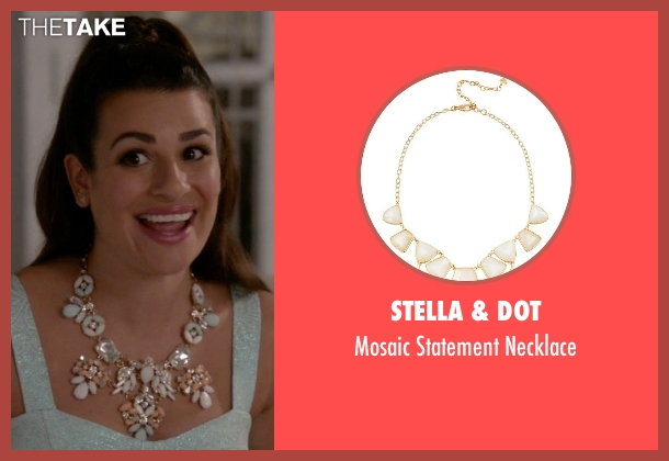 Stella & Dot white necklace from Scream Queens seen with Hester (Lea Michele)