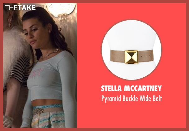 Stella McCartney beige belt from Scream Queens seen with Hester Ulrich (Lea Michele)