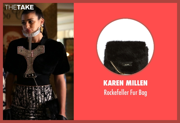 Karen Millen black bag from Scream Queens seen with Hester Ulrich (Lea Michele)