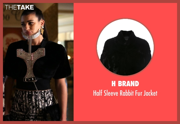 H Brand black jacket from Scream Queens seen with Hester Ulrich (Lea Michele)
