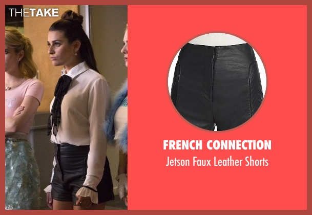 French Connection black shorts from Scream Queens seen with Hester Ulrich (Lea Michele)