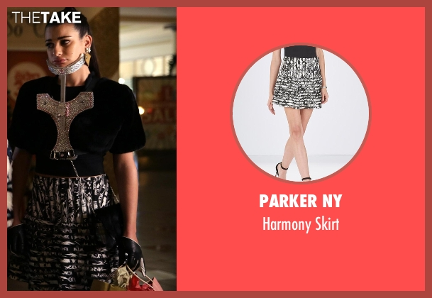 Parker NY black skirt from Scream Queens seen with Hester Ulrich (Lea Michele)