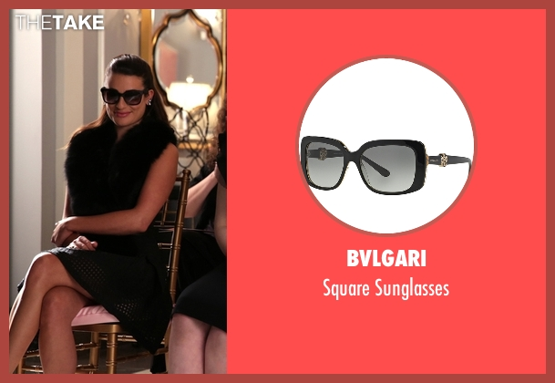 BVLGARI black sunglasses from Scream Queens seen with Hester Ulrich (Lea Michele)