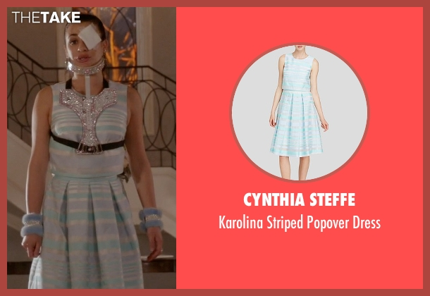 Cynthia Steffe blue dress from Scream Queens seen with Hester Ulrich (Lea Michele)