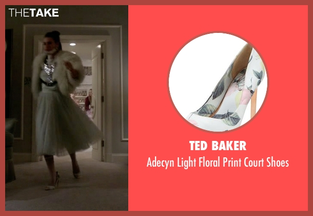 Ted Baker blue shoes from Scream Queens seen with Hester Ulrich (Lea Michele)