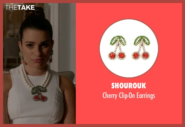 Shourouk earrings from Scream Queens seen with Hester Ulrich (Lea Michele)