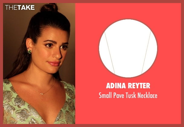 Adina Reyter gold necklace from Scream Queens seen with Hester Ulrich (Lea Michele)