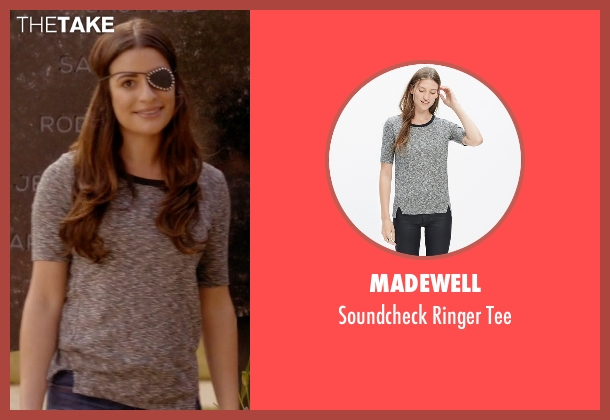 Madewell gray tee from Scream Queens seen with Hester Ulrich (Lea Michele)