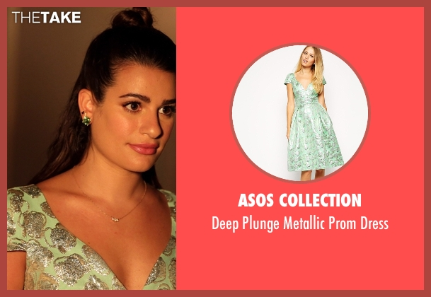 Asos Collection green dress from Scream Queens seen with Hester Ulrich (Lea Michele)