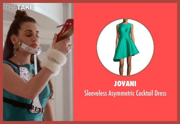 Jovani green dress from Scream Queens seen with Hester Ulrich (Lea Michele)