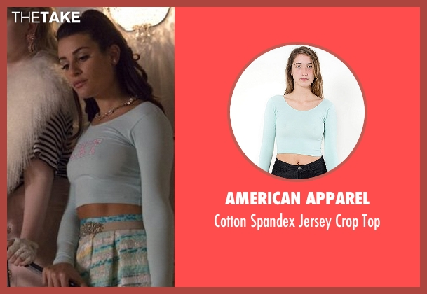American Apparel green top from Scream Queens seen with Hester Ulrich (Lea Michele)