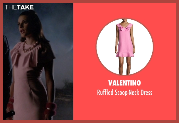 Valentino pink dress from Scream Queens seen with Hester Ulrich (Lea Michele)