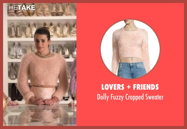 Lovers + Friends pink sweater from Scream Queens seen with Hester Ulrich (Lea Michele)