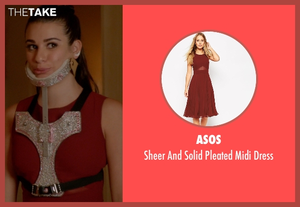 Asos red dress from Scream Queens seen with Hester Ulrich (Lea Michele)
