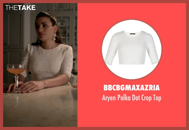 BBCBGmaxazria white top from Scream Queens seen with Hester Ulrich (Lea Michele)