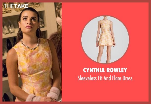 Cynthia Rowley yellow dress from Scream Queens seen with Hester Ulrich (Lea Michele)