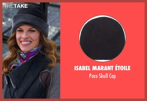 Isabel Marant Étoile black cap from New Year's Eve seen with Hilary Swank (Claire Morgan)