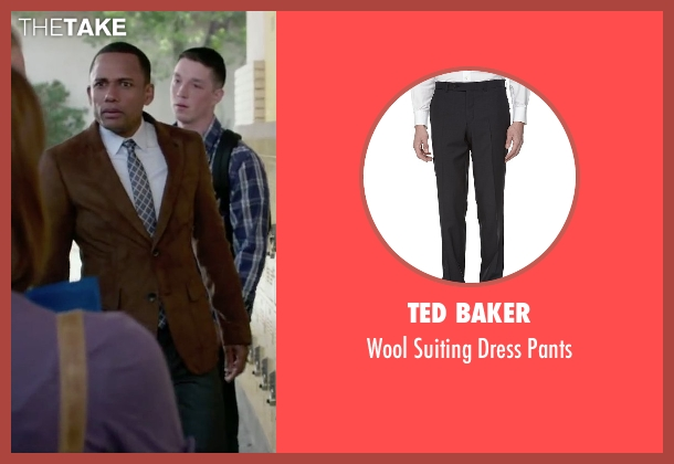 Ted Baker black pants from The Boy Next Door seen with Hill Harper (Principal)