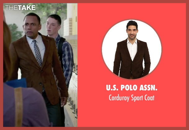U.S. Polo Assn. brown coat from The Boy Next Door seen with Hill Harper (Principal)