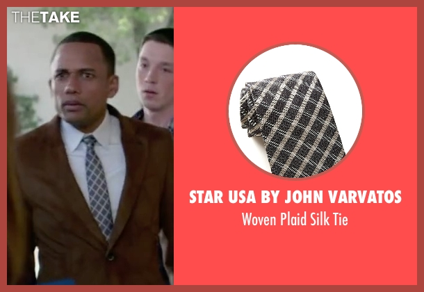 Star USA By John Varvatos gray tie from The Boy Next Door seen with Hill Harper (Principal)
