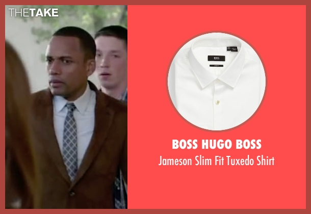 Boss Hugo Boss white shirt from The Boy Next Door seen with Hill Harper (Principal)