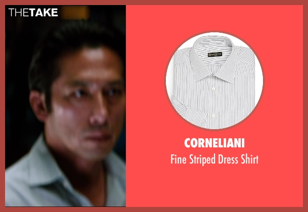 Corneliani gray shirt from The Wolverine seen with Hiroyuki Sanada (Shingen)