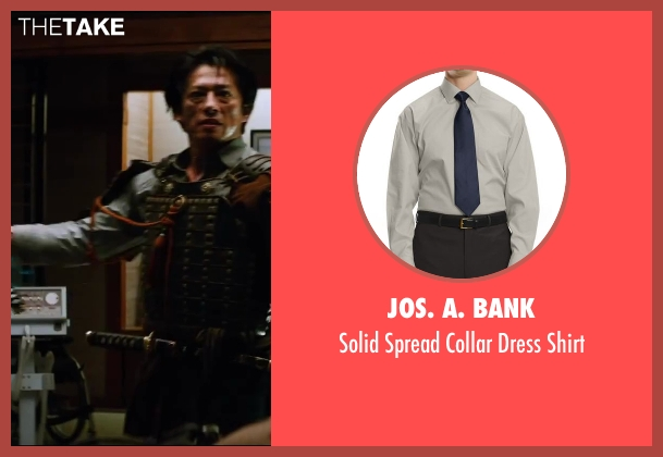 JoS. A. Bank gray shirt from The Wolverine seen with Hiroyuki Sanada (Shingen)