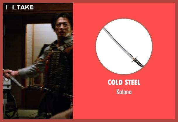 Cold Steel katana from The Wolverine seen with Hiroyuki Sanada (Shingen)