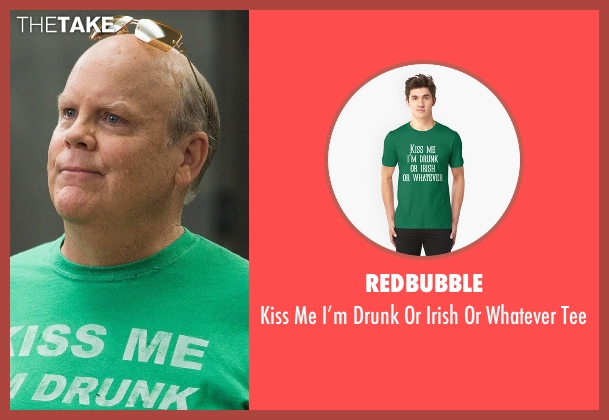 Redbubble green tee from Brooklyn Nine-Nine seen with Hitchcock (Dirk Blocker)
