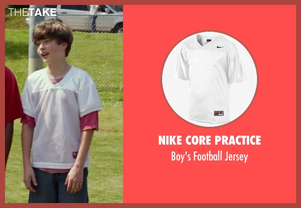Nike Core Practice white jersey from Let's Be Cops seen with Hoke Faser (8th Grader)