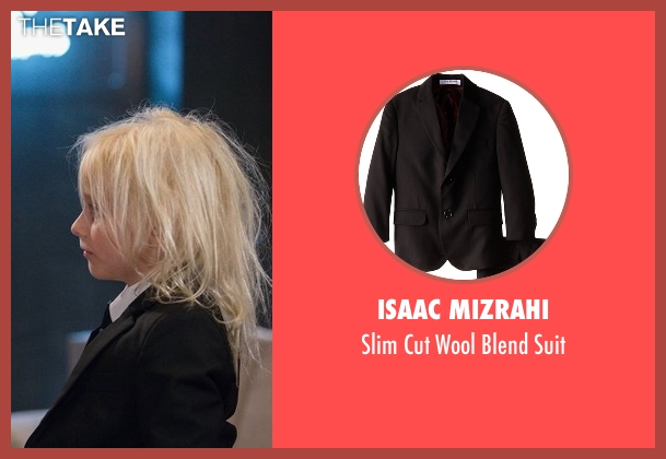 Isaac Mizrahi black suit from American Horror Story seen with Holden Lowe (Lennon Henry)