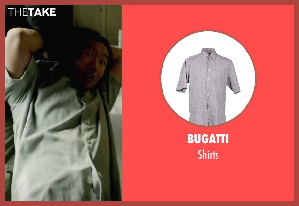 BUGATTI gray shirts from Brick Mansions seen with Holden Wong (Chinese Family Father)