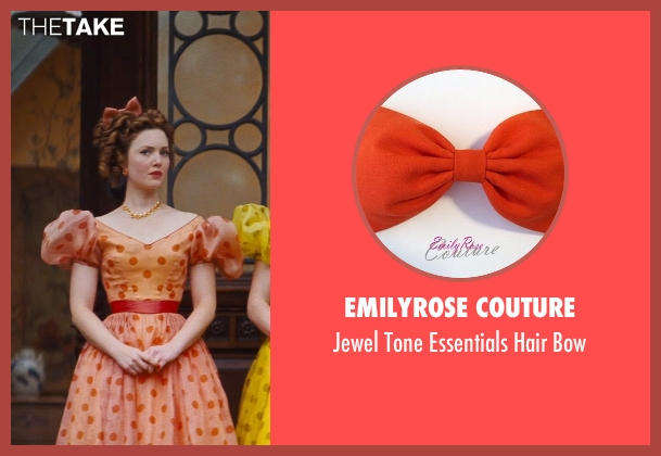 EmilyRose Couture orange bow from Cinderella seen with Holliday Grainger (Anastasia)