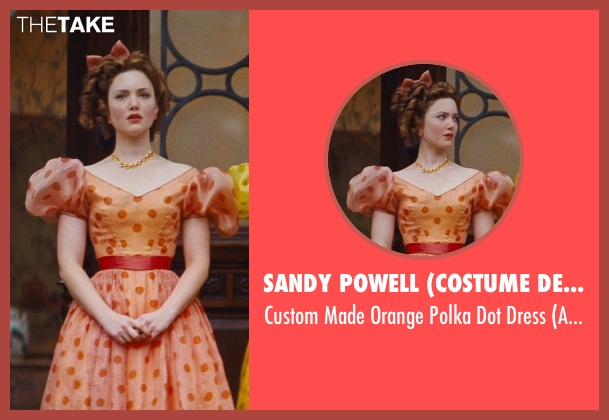 Sandy Powell (Costume Designer) orange dress from Cinderella seen with Holliday Grainger (Anastasia)