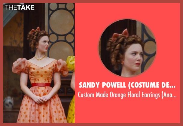 Sandy Powell (Costume Designer) orange earrings from Cinderella seen with Holliday Grainger (Anastasia)