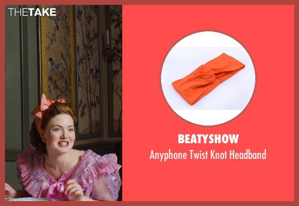 Beatyshow orange headband from Cinderella seen with Holliday Grainger (Anastasia)