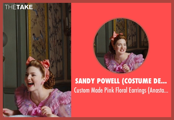 Sandy Powell (Costume Designer) pink earrings from Cinderella seen with Holliday Grainger (Anastasia)