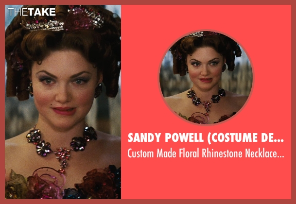 Sandy Powell (Costume Designer) pink necklace from Cinderella seen with Holliday Grainger (Anastasia)
