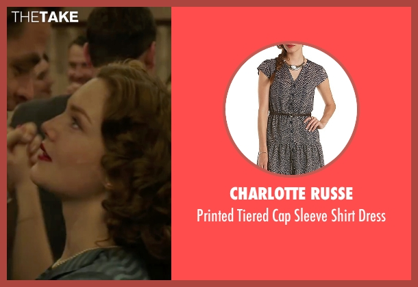 Charlotte Russe blue dress from The Finest Hours seen with Holliday Grainger (Miriam)