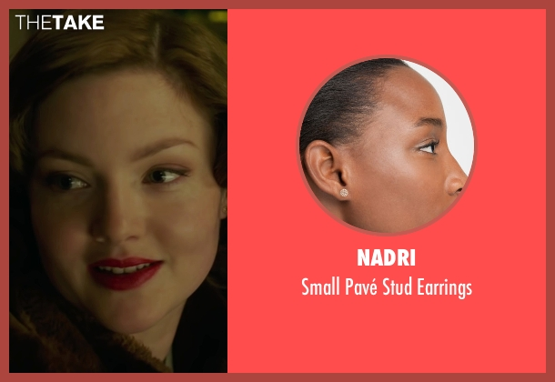 Nadri gold earrings from The Finest Hours seen with Holliday Grainger (Miriam)