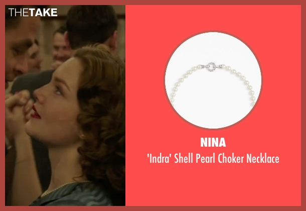 Nina white necklace from The Finest Hours seen with Holliday Grainger (Miriam)