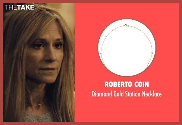 Roberto Coin gold necklace from Batman v Superman: Dawn of Justice seen with Holly Hunter (US Senator)