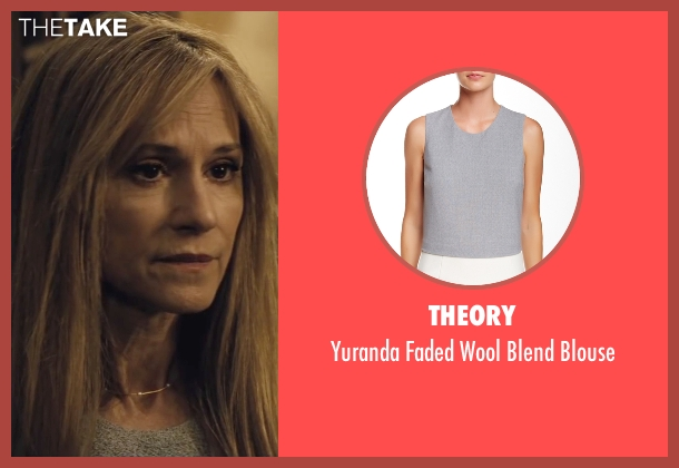 Theory gray blouse from Batman v Superman: Dawn of Justice seen with Holly Hunter (US Senator)