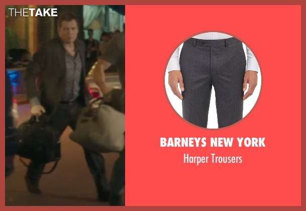Barneys New York gray trousers from Blackhat seen with Holt McCallany (Unknown Character)