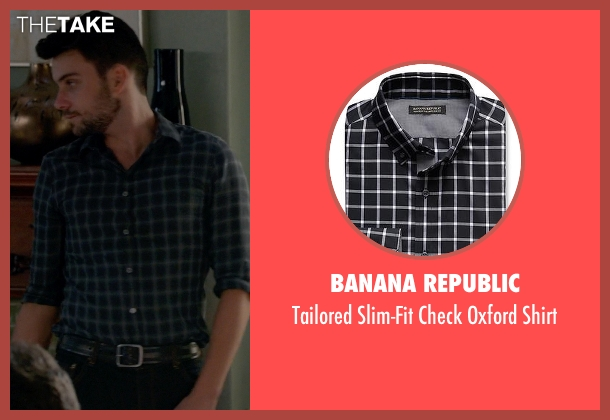 Banana Republic black shirt from How To Get Away With Murder seen with Jack Falahee