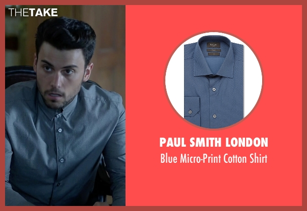 Paul Smith London blue shirt from How To Get Away With Murder seen with Jack Falahee