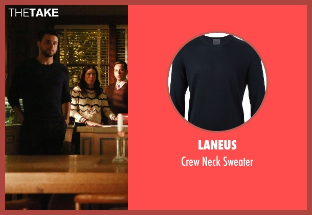 Laneus blue sweater from How To Get Away With Murder seen with Jack Falahee